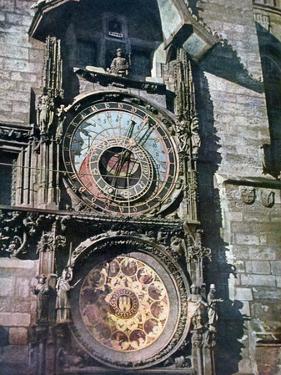 Astronomical Clock, Old Town Hall, Prague, Czech Republic, 1943