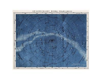 Astronomy Map Northern Constellations