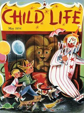 At the Circus - Child Life, May 1954