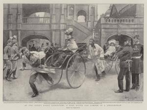 At the Earl's Court Exhibition, a Ride Round Old London in a Jinrickshaw