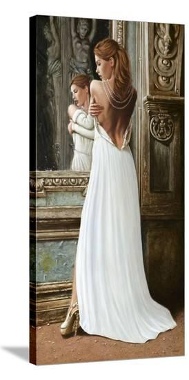 At the Mirror-John Silver-Stretched Canvas