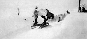 At the Start of the Cresta Run, St. Moritz, 1912