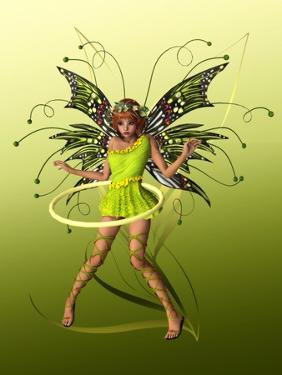 Green Butterfly Fae by Atelier Sommerland