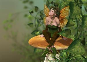 Pixie On A Mushroom by Atelier Sommerland
