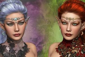 Two Female Elven by Atelier Sommerland