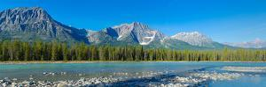 Athabasca River with Mountains in the Background