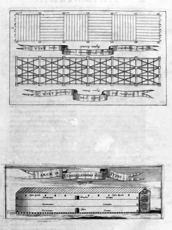 Description of the Ark, 1675 by Athanasius Kircher