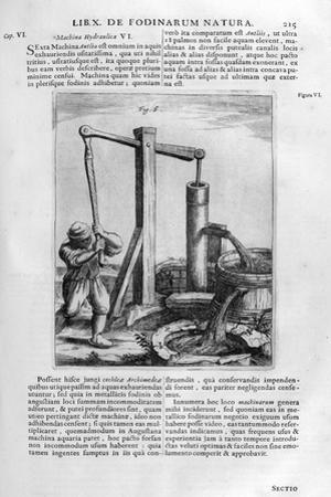 Hand Hydraulic Water Pump, 1678 by Athanasius Kircher