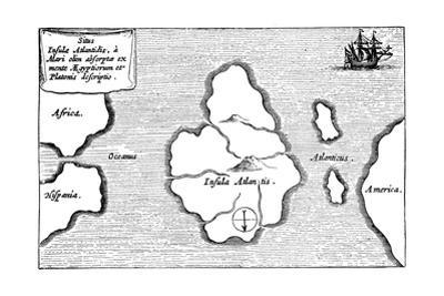 Legendary Island of Atlantis by Athanasius Kircher