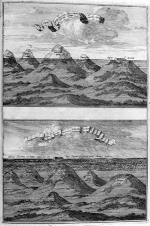 Result of the Deluge, 1675 by Athanasius Kircher