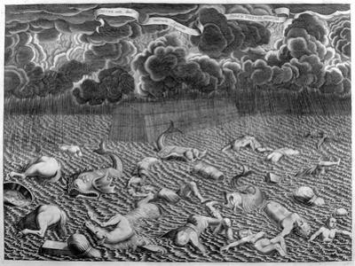 Scene of the Deluge, 1675 by Athanasius Kircher