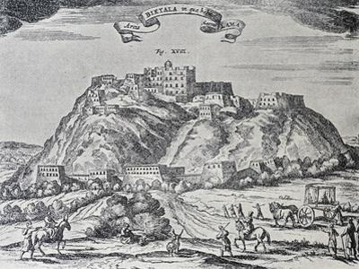 The Residence of the Dalai Lama, Potala Palace in Lhasa, Ca 1660, Engraving from China Illustrated by Athanasius Kircher