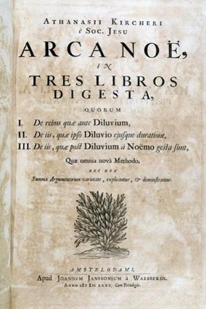 Title Page of Arca Noe, 1675 by Athanasius Kircher