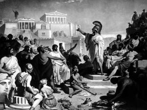 Athenian Statesman Pericles Pleading For Aspasia at Her Trial