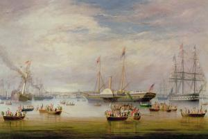 The Royal Yacht `Victoria and Albert' at Anchor Off Cork, 1849 by Atkinson