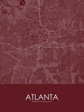Atlanta, United States of America Red Map
