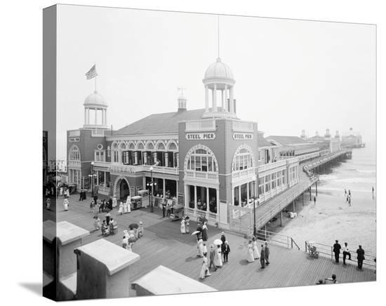 Atlantic City Steel Pier, 1910s--Stretched Canvas Print