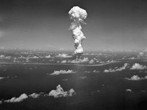 Atomic Bomb Mushroom over Bikini Isle