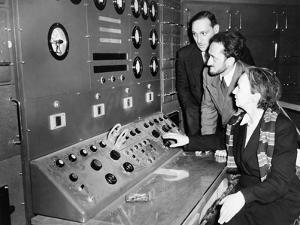 Atomic Scientist Irene Curie at France's First Nuclear Reactor in 1948