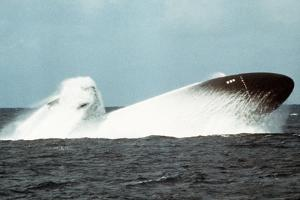 Attack Submarine Birmingham Conducting an Emergency Surfacing, Nov. 19, 1978