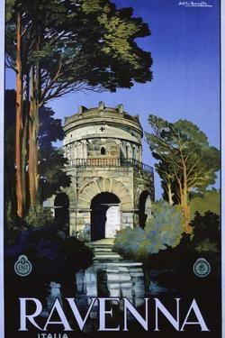 Ravenna Travel Poster by Attilio Rauaglia