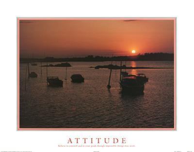 Attitude (Believe In Yourself) Motivational Print Poster