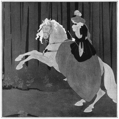 A Woman Sitting on a Rearing Horse, 1898 by Aubrey Beardsley
