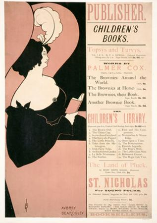 Advertisement for Children's Books, 1894 by Aubrey Beardsley