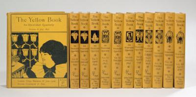 Cover and Spine Designs for 'The Yellow Book', Volumes II-XIII, published 1894-97 by Aubrey Beardsley