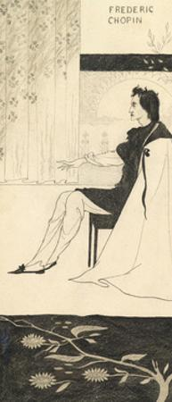 Frederic Chopin by Aubrey Beardsley