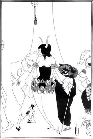 """Illustration for """"The Masque of the Red Death"""" by Edgar Allan Poe, 1895 by Aubrey Beardsley"""