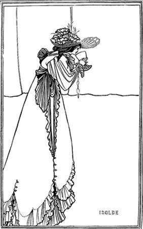 Isolde, 1890 by Aubrey Beardsley