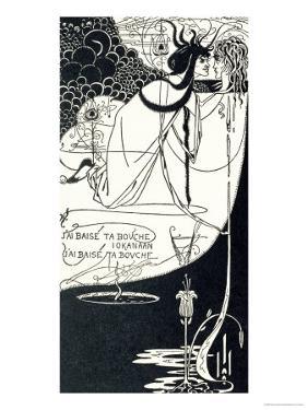 "J""Ai Baise Ta Bouche, Jokanaan, Illustration from ""Salome"" by Oscar Wilde, Pub. 1894 by Aubrey Beardsley"