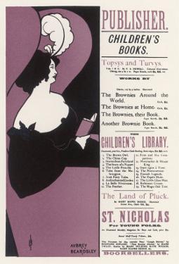 London Bookseller's Poster by Aubrey Beardsley