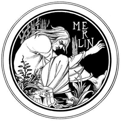Merlin, an Illustration from 'Le Morte D'Arthur' by Sir Thomas Malory, 1893-94 by Aubrey Beardsley