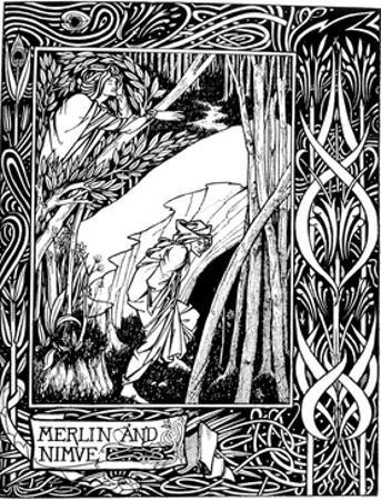 Merlin and Nimue by Aubrey Beardsley