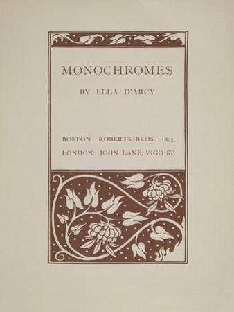 Monochromes by Aubrey Beardsley