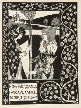 Morgan Le Fay Gives a Shield to Sir Tristram by Aubrey Beardsley