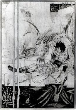 Now King Arthur Saw the Questing Beast and Thereof Had Great Marvel, from 'Le Morte D'Arthur' by Aubrey Beardsley