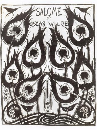 """Original Sketch for the Cover of """"Salome"""" by Oscar Wilde circa 1894"""