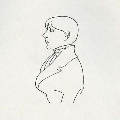 Portrait of the Artist in Outline by Aubrey Beardsley