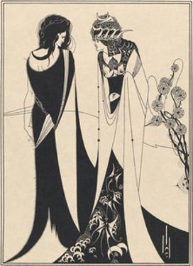 Salome - John and Salomé by Aubrey Beardsley