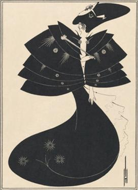 Salome - The Black Cape by Aubrey Beardsley