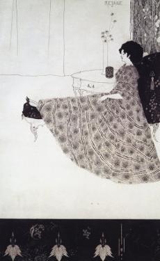 Seated Woman by Aubrey Beardsley
