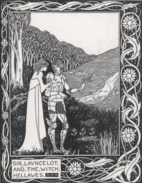 Sir Lancelot and the Witch Hellawes by Aubrey Beardsley