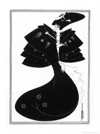 The Black Cape by Aubrey Beardsley