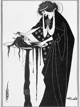"The Dancer's Reward, Illustration from ""Salome"" by Oscar Wilde, Published 1894 by Aubrey Beardsley"