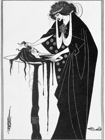 "The Dancer's Reward, Illustration from ""Salome"" by Oscar Wilde, Published 1894 by Aubrey Beardsley"