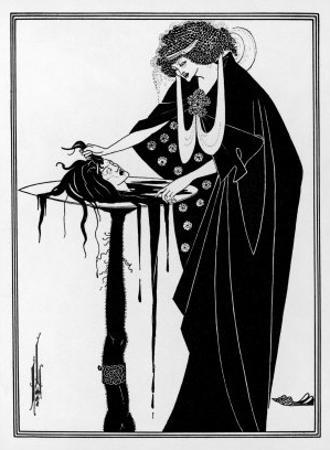 The Dancer's Reward: The Head on a Platter by Aubrey Beardsley