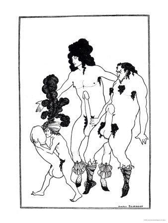The Lacedaemonian Ambasadors, Illustration from Lysistrata by Aristophanes 1896